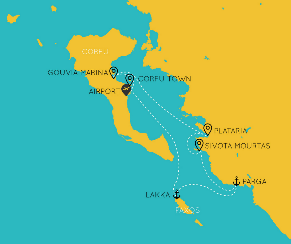 Corfu-sailing-itinerary