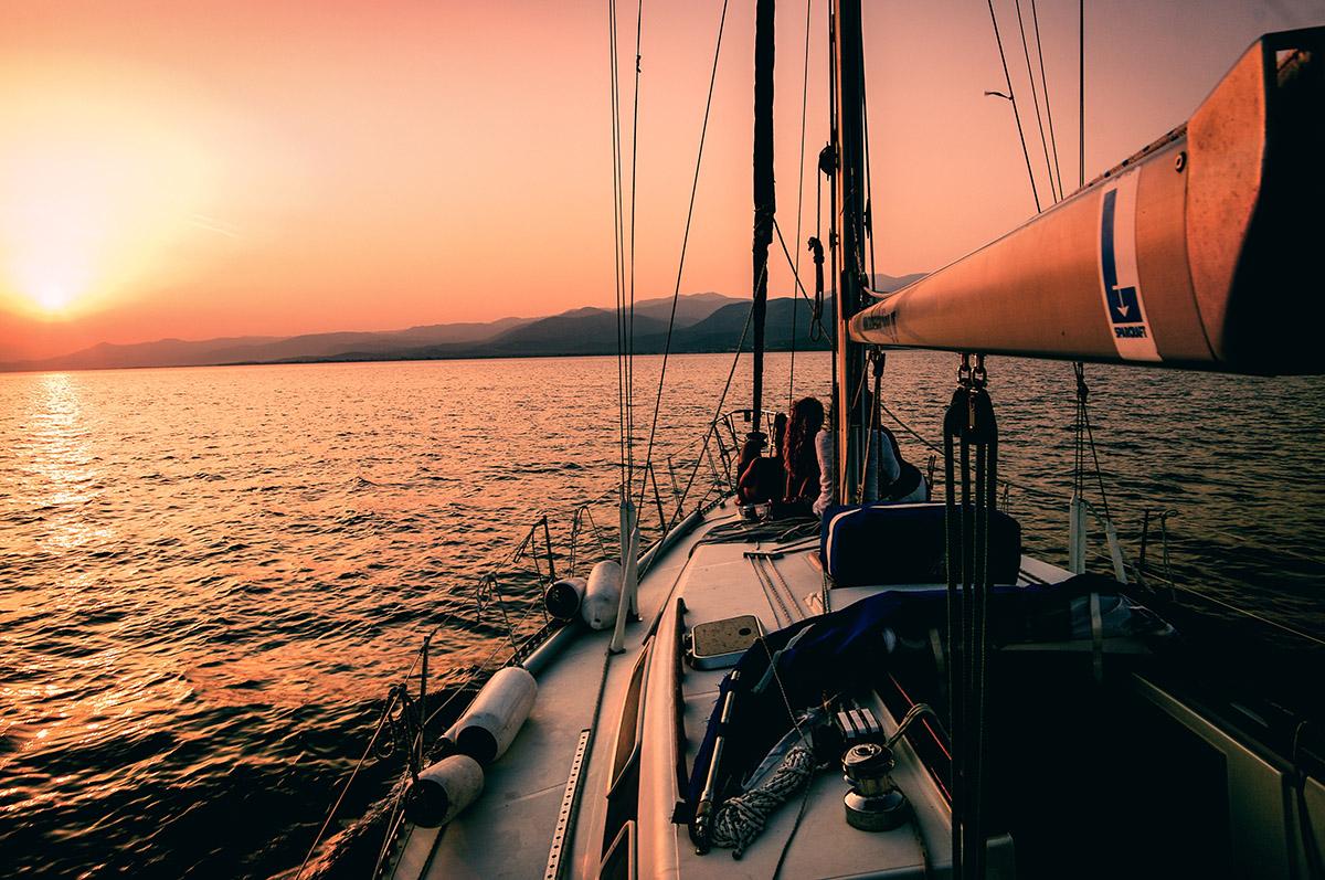 Greek Sailing Cruise sunset