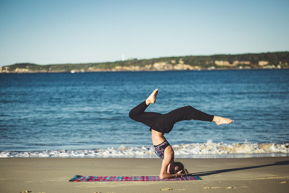 Italy Yoga Retreat headstand variations